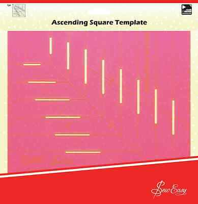 Sew Easy Quilters Ascending Square Template 25 x 25cm / 10 x 10 inch