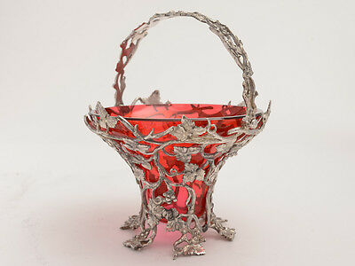 Victorian Cast Silver Plated Sweetmeat Dish, Circa 1880