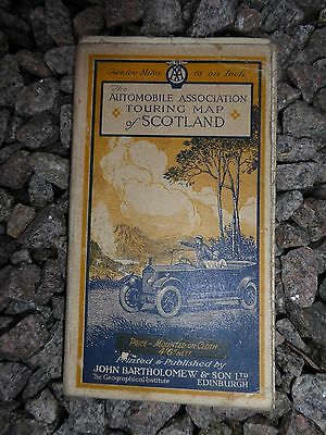 Vintage cloth AA touring map of Scotland