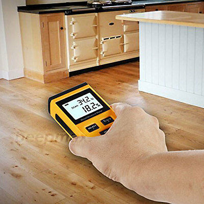 Digital LCD Wood Timber Induction Moisture Meter Damp Detector Humidity Tester