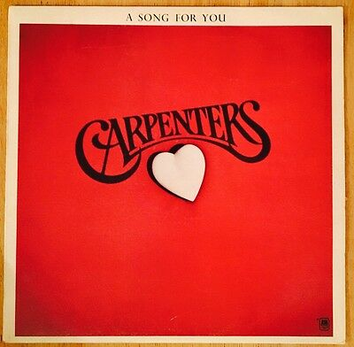 "The Carpenters ' A Song For You ' 1972 Vintage / Retro 12"" Vinyl Record LP"