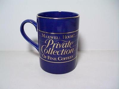 Maxwell House Private Collection Coffee Mug Blue &Gold