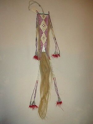 Antique Lakota Sioux Quilled Horse Tail Headdress