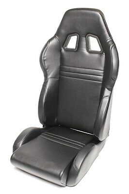 Siege baquet sport Tuning Art -noir, simili, ajustable, droit, Siege baquet