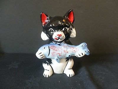 """Lorna Bailey """"fishy"""" Cat Brand New Hand Painted & Signed"""