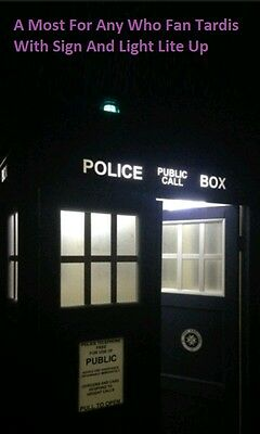 POLICE PHONE CALL BOX FULL SIZE like a Prop Shed Dr Who TARDIS FOR SALE ***