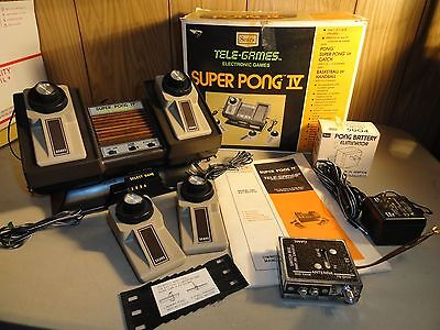 Vintage Sears By Atari Tele-Games Super Pong 4 In Original Box Complete Working
