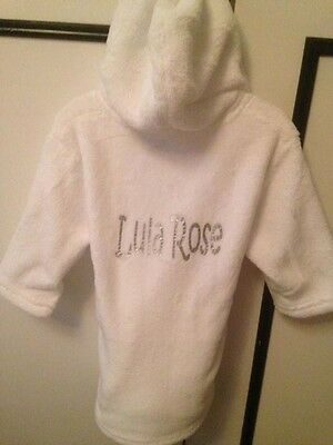 Baby Dressing Gown - Personalised with text of your choice.