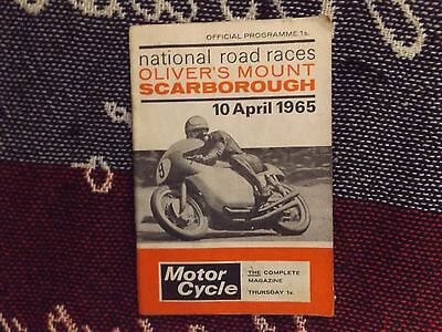 1965 Olivers Mount Motor Cycle Programme 10/4/65 - National Road Races