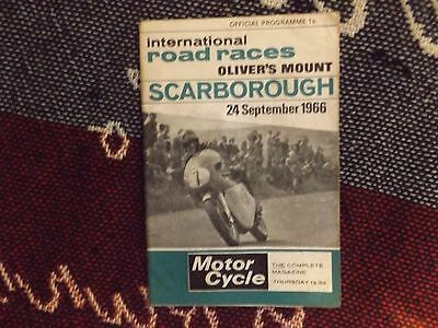 1966 Olivers Mount Motor Cycle Programme 24/9/66 - International Road Races