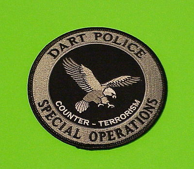 Dart Police  Counter -Terrorism  Special Operations  Subdued  Police Patch