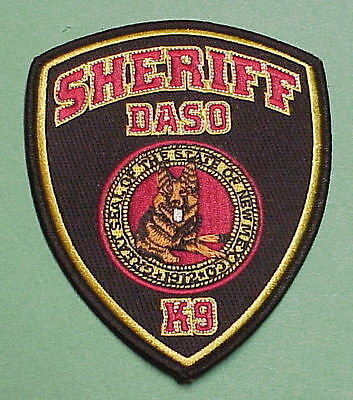 Daso  New Mexico  Nm  K-9  Sheriff /  Police Patch   Free Shipping!!!