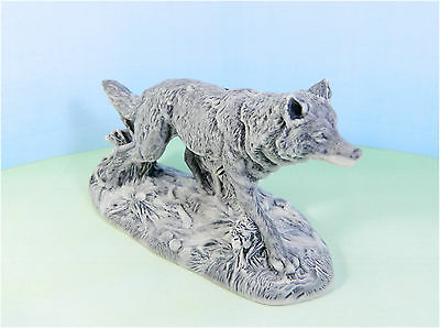 Pressed marble stone crumb Wolf figurine from Russia