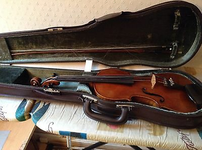 German 'Strad' Violin with Case and Bow.