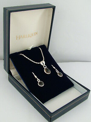 Gems Tv Gemporia Solid Sterling Silver Smokey Quartz Necklace And Earring Set