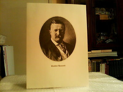 """Theodore Roosevelt 9"""" X 12"""" Presidential Portrait Lithographed Print- Excellent"""