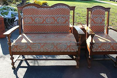 Religious Church Antique Bench & Chair 1800's ONLY $25 today