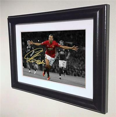 Signed Zlatan Ibrahimovic Manchester United Autographed Photo Picture Frame sml