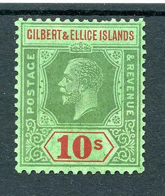 Gilbert & Ellice Islands 1922-27 10s green and red on emerald SG35 MVLH cat £160