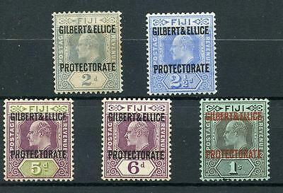 Gilbert & Ellice Islands 1911 ovpt 2d to 1s SG3/7 MLH cat £155