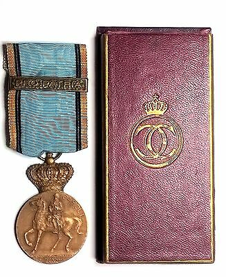 Romania Kingdom Centenary medal Carol I & PRO PATRIA in original box