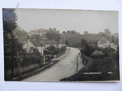 Real photo postcard of Hambrook, nr Bath, Somerset