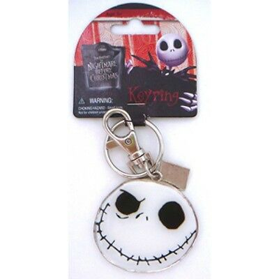 Nightmare Before Christmas Pewter Key Ring Good/Bad Jack
