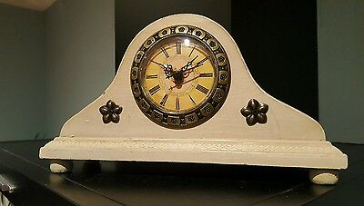 painted mantle clock
