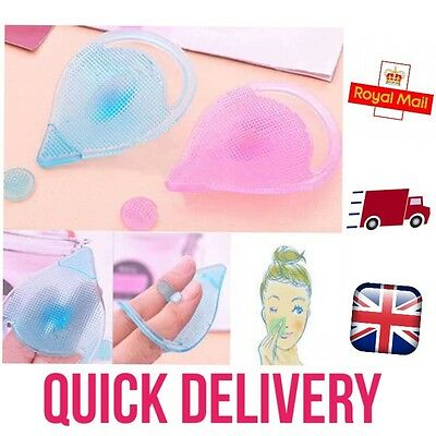 Silicone Facial Scrub Brush Wash Pad Remove Dirt Deep Clean Massager Blackhead