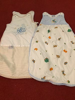 2 Baby Sleeping Bags 2.5 Tog, Size 0-6 Months