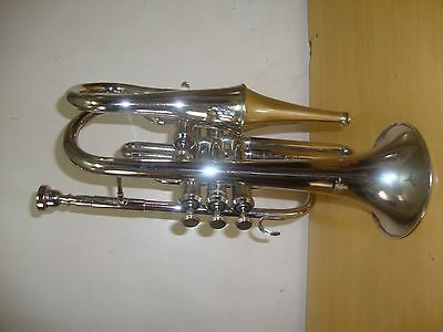 BUY IT NOW! NEW SILVER Bb ECHO CORNET+FREE HARD CASE+M/P+FREE SHIPPING