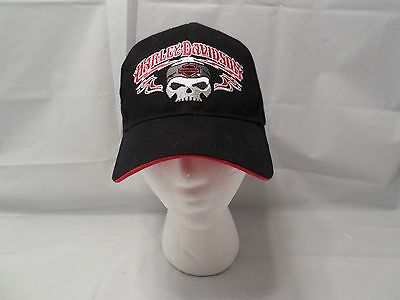 Harley Davidson Hat Cap Men's Willie G Skull Black Authentic HD Strapback Velcro