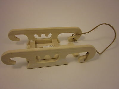 """WOOD SLED Winter Holiday Snow Fun Miniature Free US Shipping New Decoration 9"""""""