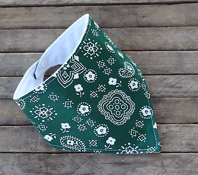 Hunter Green Bandanna Baby Bib Bandana