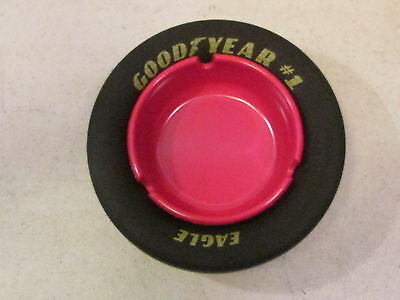 Large Goodyear Eagle #1 Nascar Racing Slick Ashtray Red