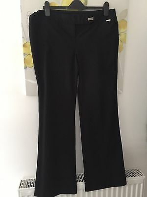 Ladies Black River Island Trousers - Size 18