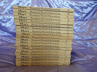 Disney's Wonderful World Of Knowledge Book Set 1973.Used Condition.