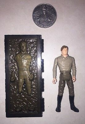 "Star Wars Vintage Kenner ""han Solo In Carbonite Chamber"" Lfl 1984 Last 17 +Coin"