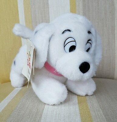 "Penny Dalmatian pup from 101 Dalmations 7"" plush by Disney Store BNWT"