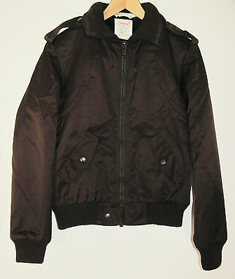 BOYS 12-13-14 YEARS - VINTAGE 1980s - MARKS & SPENCER - M&S BROWN BOMBER JACKET