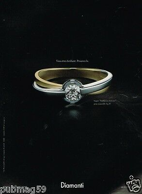Publicité advertising 2007 Bijou Diamanti