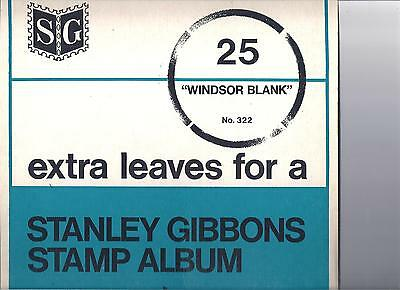 64  New  Blank  Pages to fit a  Gibbons  WINDSOR  stamp  album