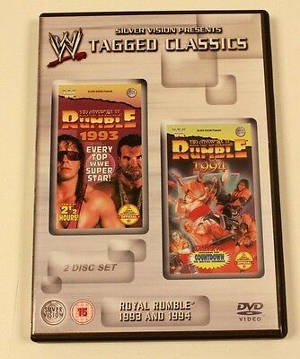WRESTLING DVD COLLECTION By Silver Vision WWE WWF RARE DVDS ROYAL RUMBLE TAGGED