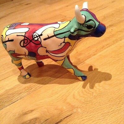 Medium Sized Cow Parade Cow, ' Cowmedy And Tragedy '