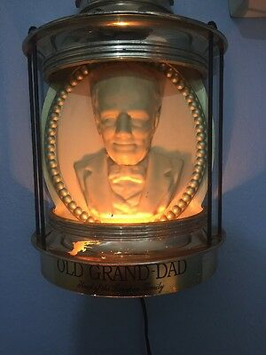 Old Grand Dad Head Of The Bourbon Family Vintage Light Sign