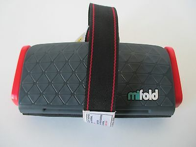 Mifold Grab-and-Go Car Booster Seat Slate Grey for Kids Aged 4 and Up
