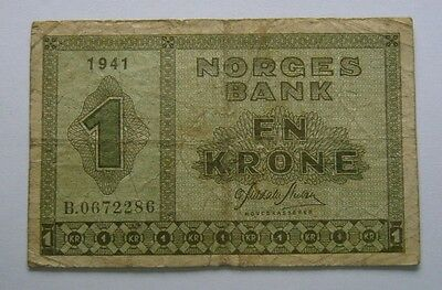 Norway 1 Krone 1941, Norges Bank En Krone 1941