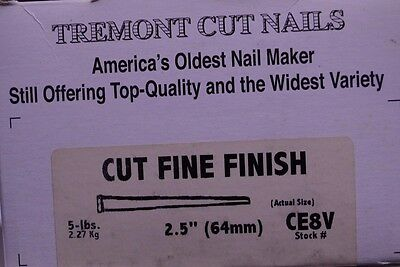 Tremont Cut Nails, 8d, 1+ LB, apx 180+ Nails, For Restoration & Craft Projects