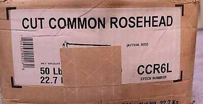 Tremont Common Rosehead Nails, 6d, 38+LB, For Restoration & Craft Projects