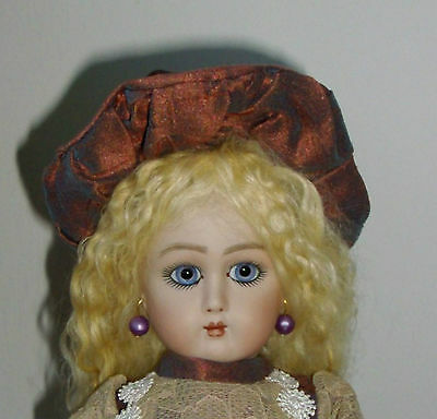 27cm ANTIQUE REPRODUCTION FRENCH JULLIEN 11 DRESSED ALL BISQUE  BEBE